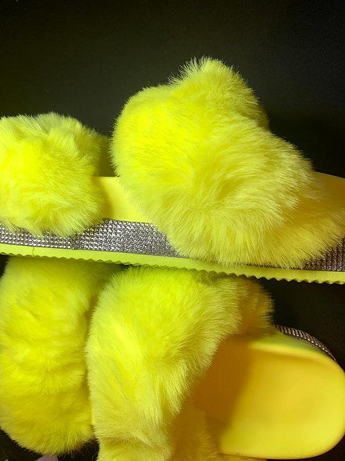Super Fluffy Fur Slides