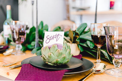Friendsgiving Styled Shoot place setting