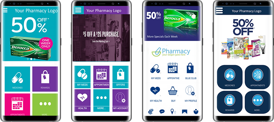 Example of branded Pharmacy apps