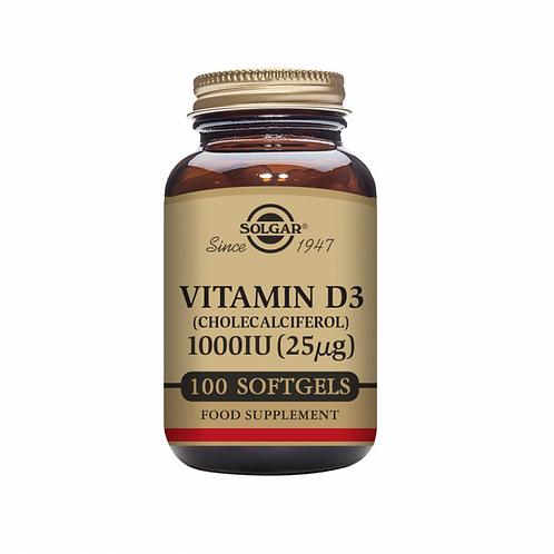 Solgar Vitamin D 1000IU Softgels