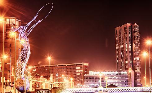 Belfast City Skyline, Northern Ireland,