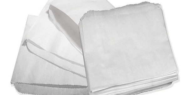 """WHITE GREASEPROOF BAG SCOTCHBARN 8.5""""x 8.5"""" (x1000)"""