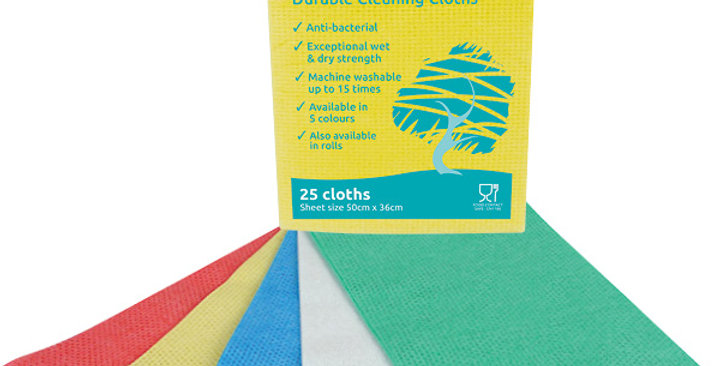 ENVIROWIPE PLUS BLUE FOLDED CLEANING CLOTHS (x25)