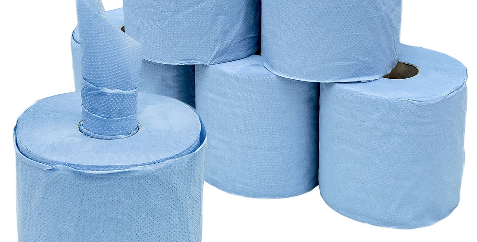 BLUE CENTRE FEED ROLLS 2PLY (x6)