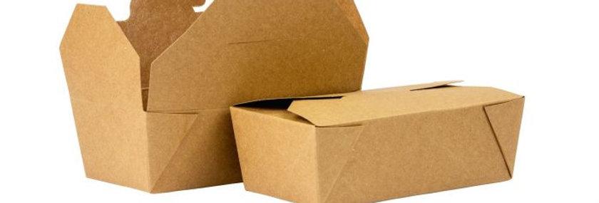 KRAFT DELI BOX NO.8 RECTANGLE