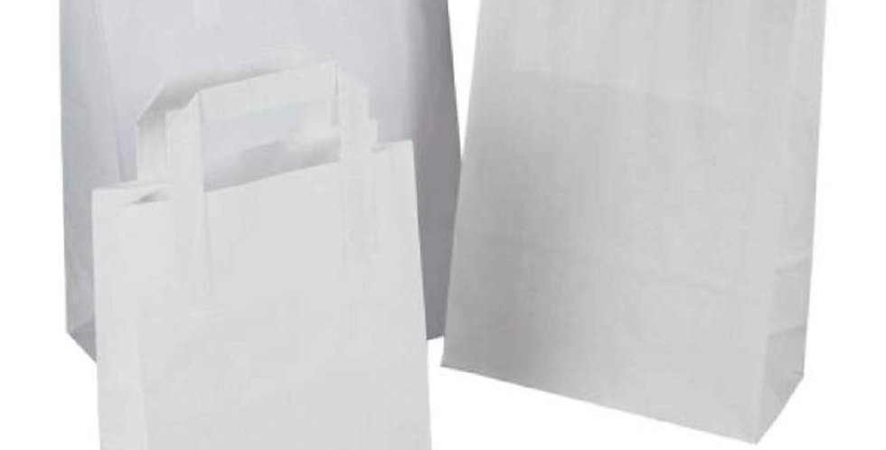 WHITE HANDLED CARRIER BAG SMALL (250 PER BOX)