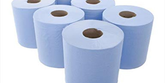 BLUE ROLL 2PLY (6 PER PACK)