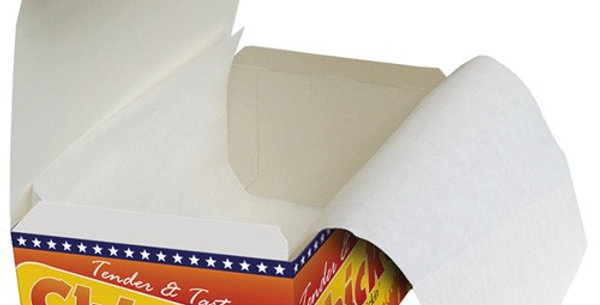 "SMALL CHICKEN BOX LINERS 5""x 14"" (4KG)"