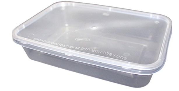 C500 PLASTIC CONTAINER WITH LIDS (x250)
