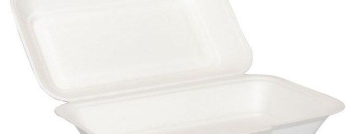 EXTRA LONG CLAMSHELL FOOD BOX (250 PER BOX)