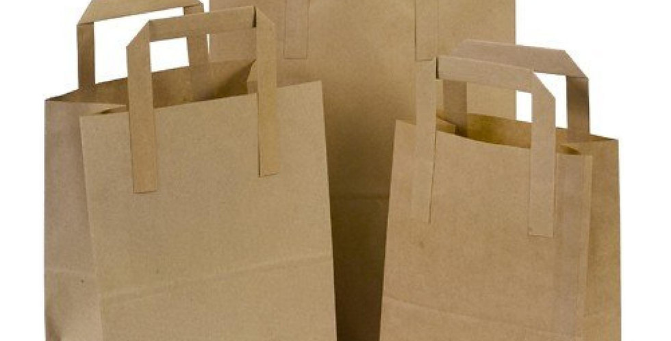 KRAFT HANDLED CARRIER BAG MEDIUM (250 PER BOX)