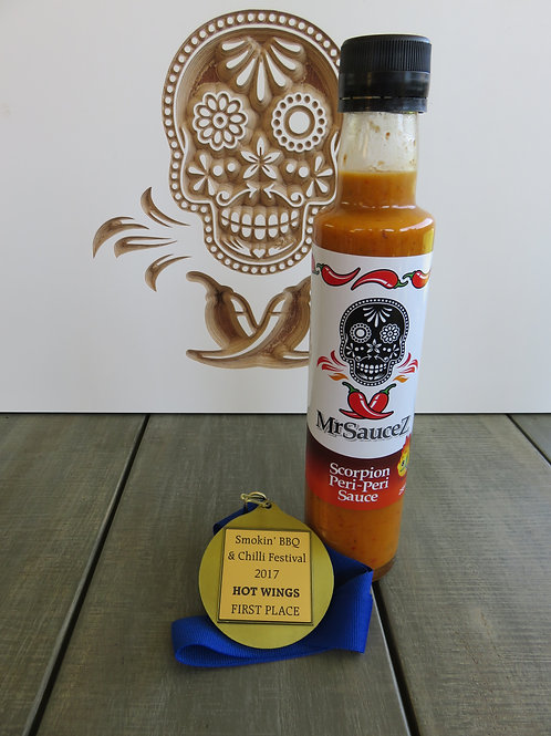 Scorpion Peri Peri Sauce Hot and Tasty! 250ml