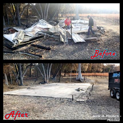 fire damage debris removal