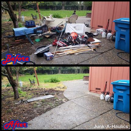 backyard clean out