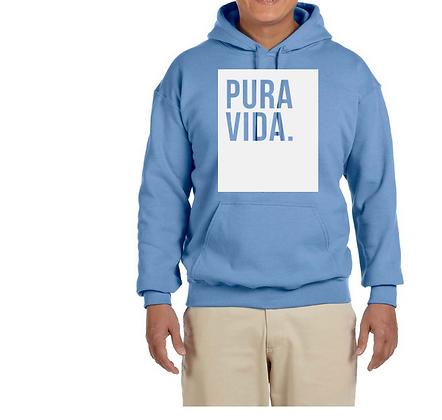 "Pura Vida ""Block"" Hoodie Gateway Blue"
