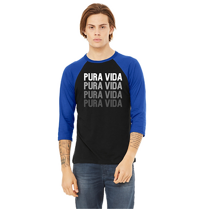 "Baseball 3/4 Sleeve ""On Repeat"" Pura Vida"