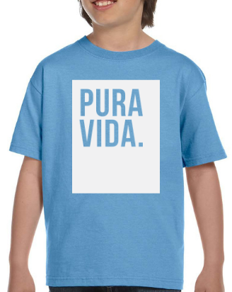 Kid's Baby Blue T Shirt Pura Vida Block
