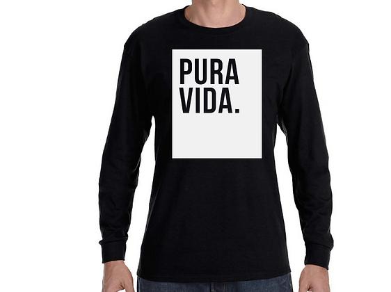 """Pura Vida """"Block"""" Long Sleeve Shirt Black"""