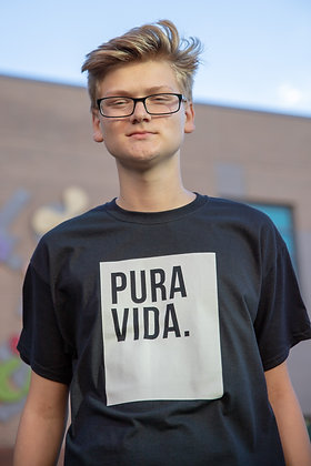 "Pura Vida ""Block"" T-Shirt Black"