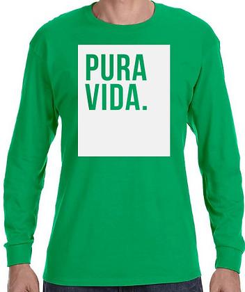 """Pura Vida """"Block"""" Long Sleeve Shirt Green"""