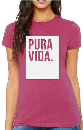 Women's Berry T-Shirt Pura Vida Block
