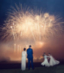 wedding fireworks