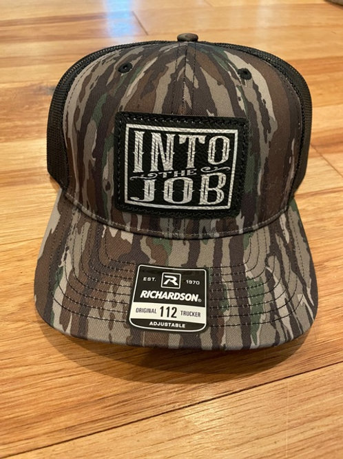 Into The Job CAMO Patch Hat