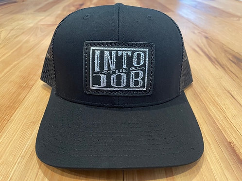 Into the Job Leather Patch HAT (Black)