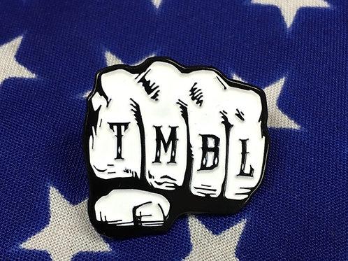 "Enamel 1"" TMBL old school PIN (FREE SHIPPING)"