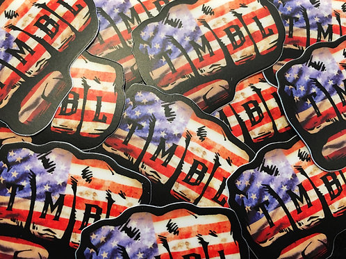 (2 PACK) TMBL Knuckle AMERICAN FLAG Helmet Decal