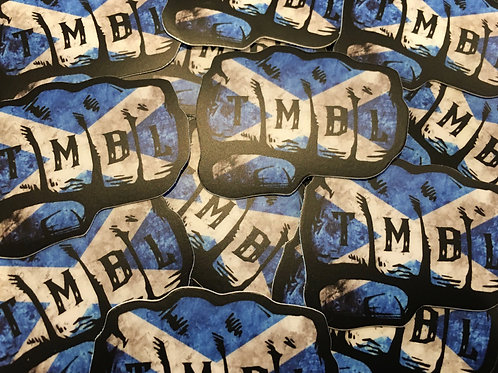 (2 PACK) TMBL SCOTTISH Knuckle Helmet Decal