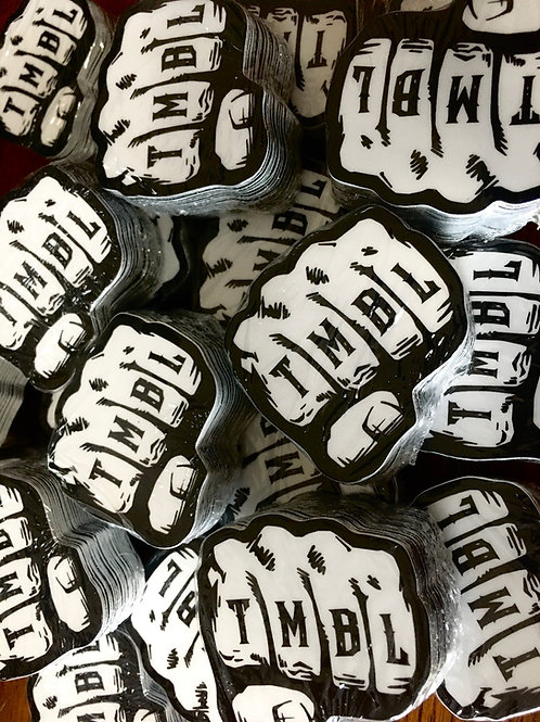 (2 Pack) TMBL Knuckle helmet decal FREE SHIPPING