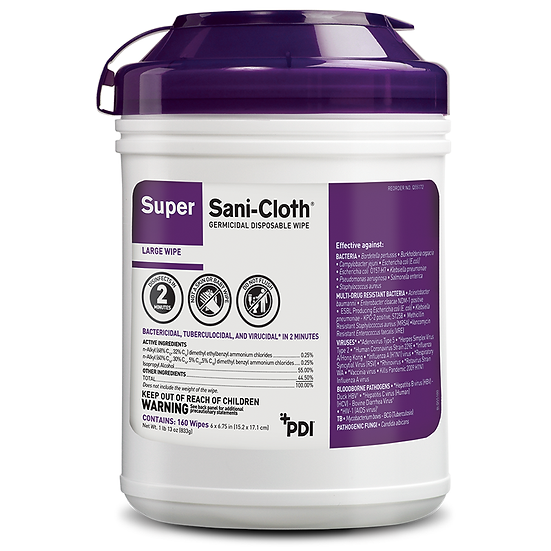 Super Sani-Cloth Germicidal Disposable Wipes (12 Containers)
