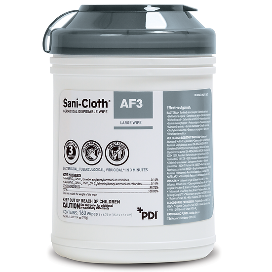 Sani-Cloth® AF3 Germicidal Disposable Wipe (12 Containers)
