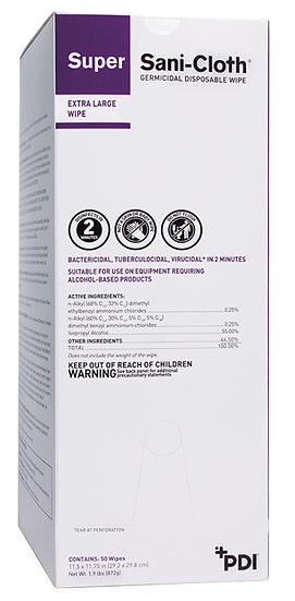 Super Sani-Cloth® Germicidal Disposable Wipe (3 Boxes)