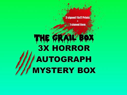 The Grail Box 3x Horror Autograph Mystery Box