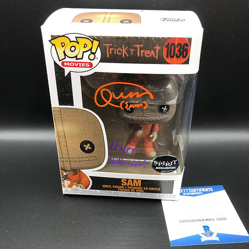 """Quinn Lord Signed Funko Pop """"Happy Halloween!"""" With Beckett COA DUAL Color"""