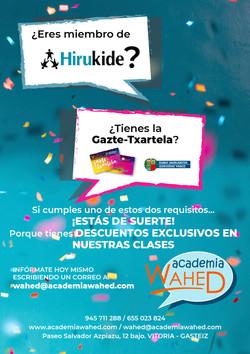 Wahed-cartel Hirukide-Gazte Txartela-mar