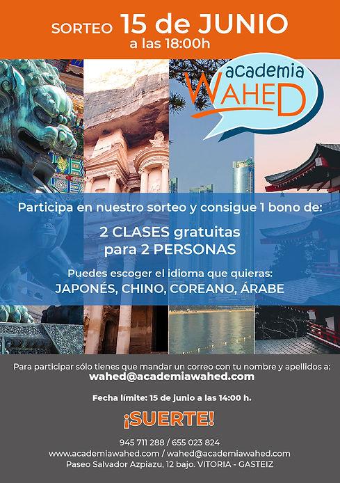 Wahed-cartel sorteo idioma junio 2020.jp