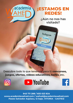 Redes sociales Academia Wahed