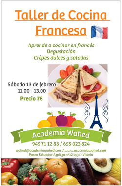 Taller cocina francesa poster