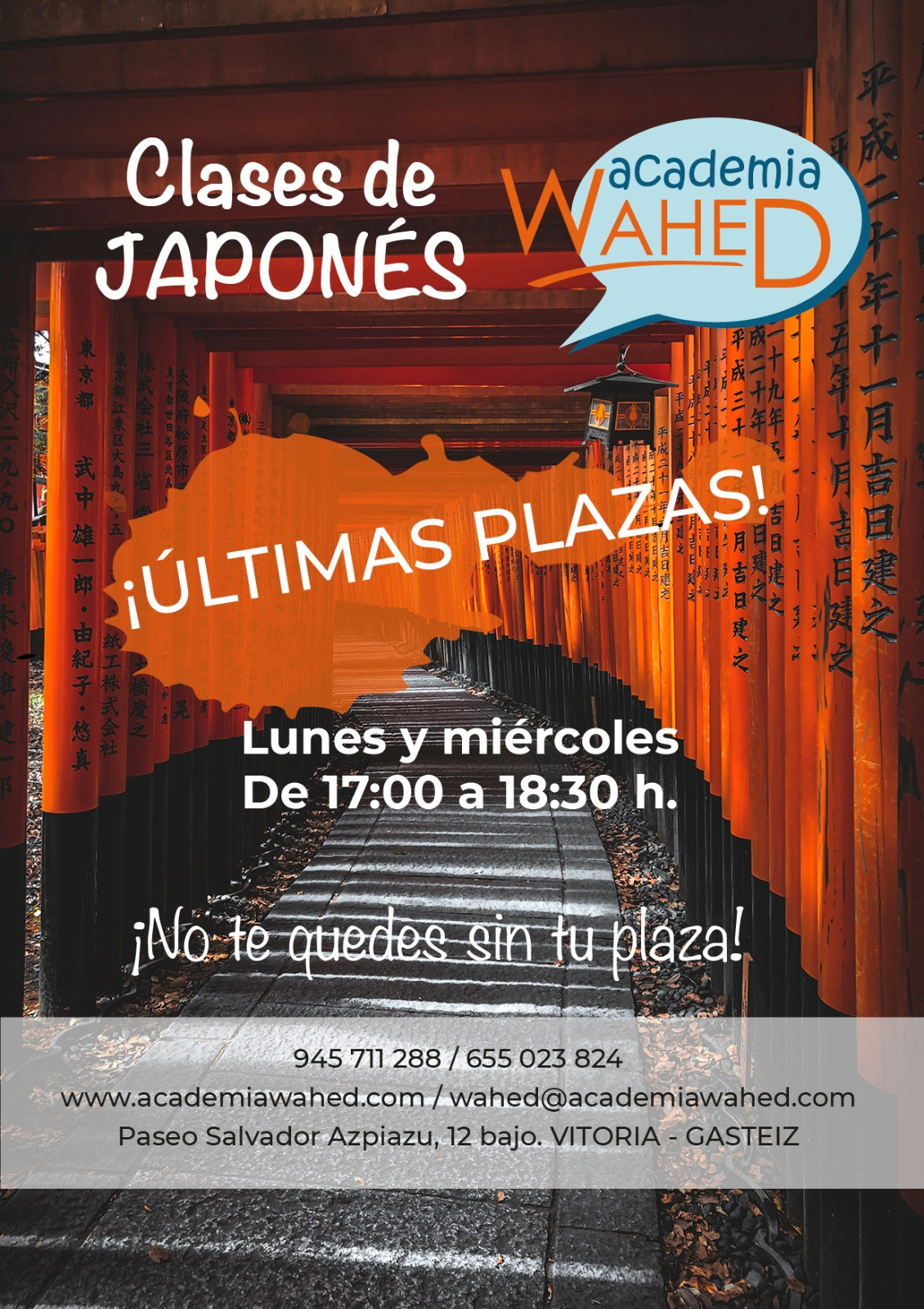 Ultimas plazas Japones Wahed
