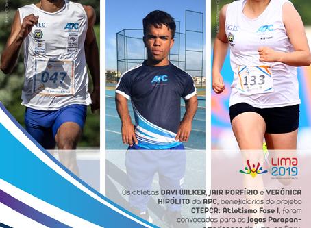 APC tem três atletas convocados para representar o país nos Jogos Parapan-americanos de Lima