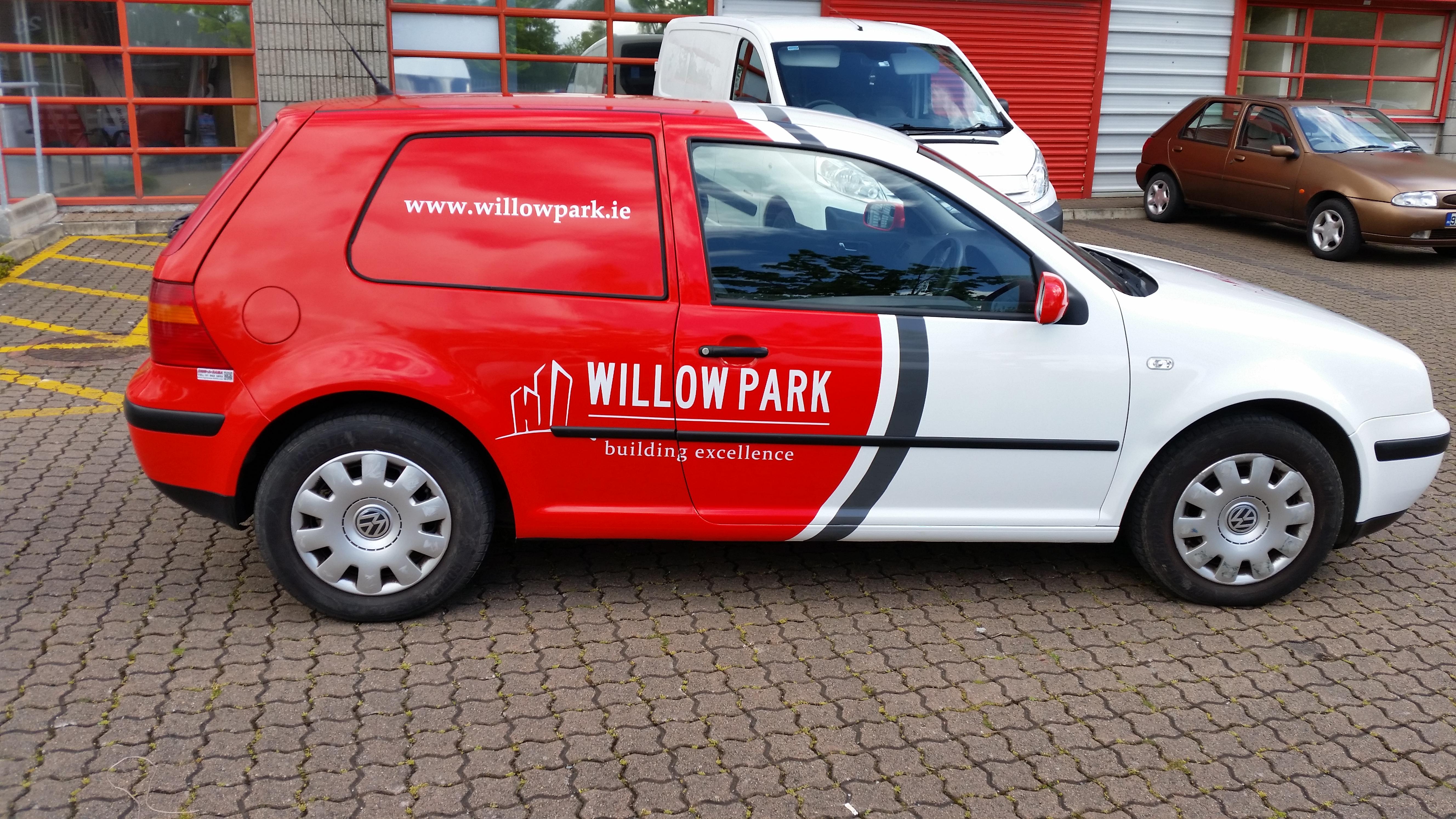 Half Car Vinyl wrap fro Willow Park