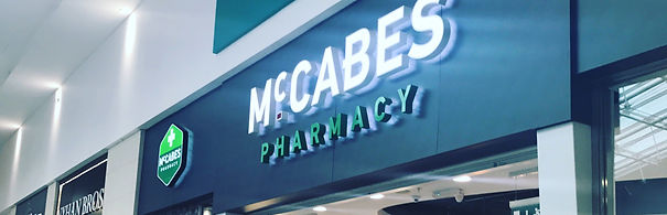 Shop Front Pharmacy Signage Fret Cut Light Box