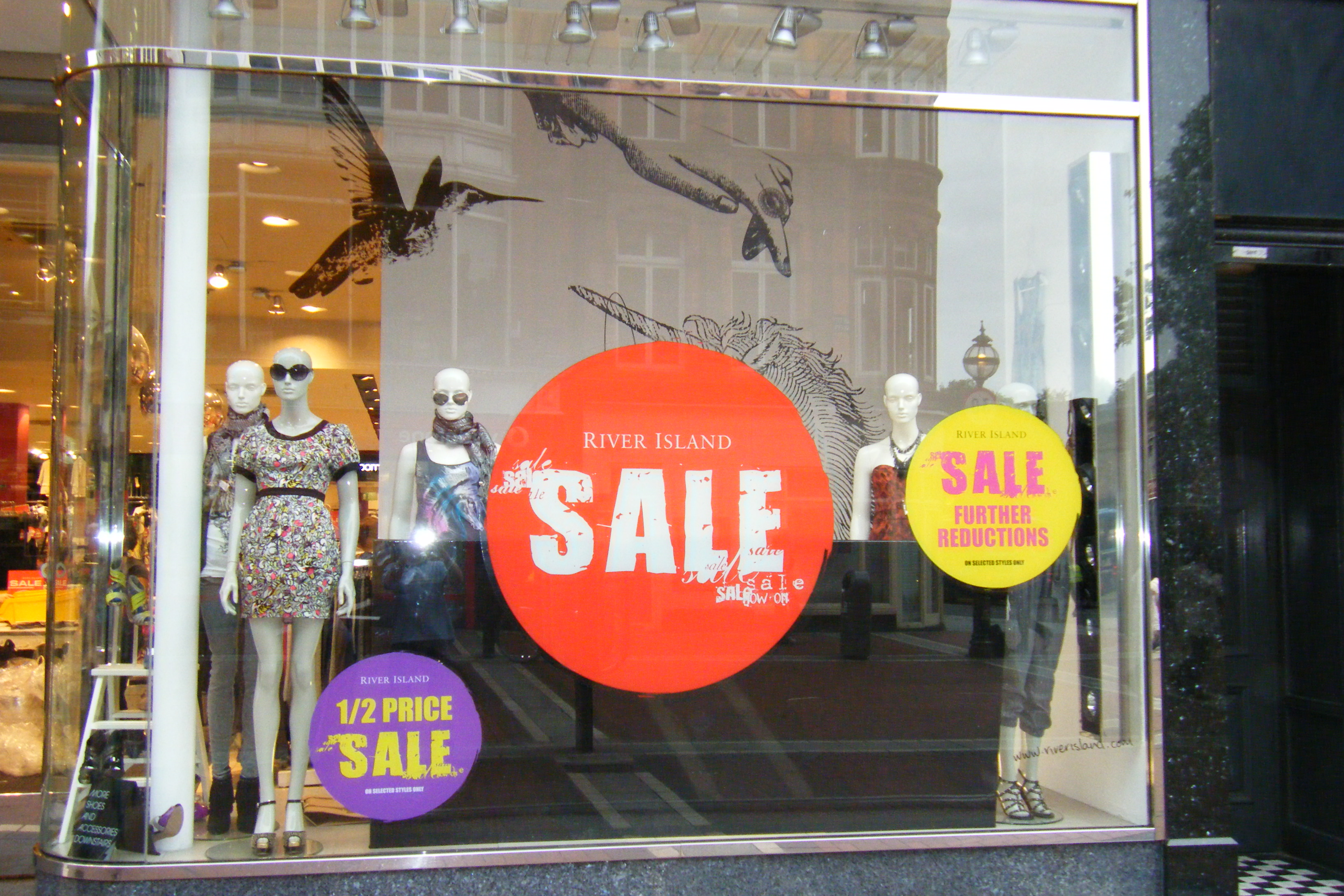 Seasonal Promotional Window Graphics Produced to Static Cling_ Dundrum