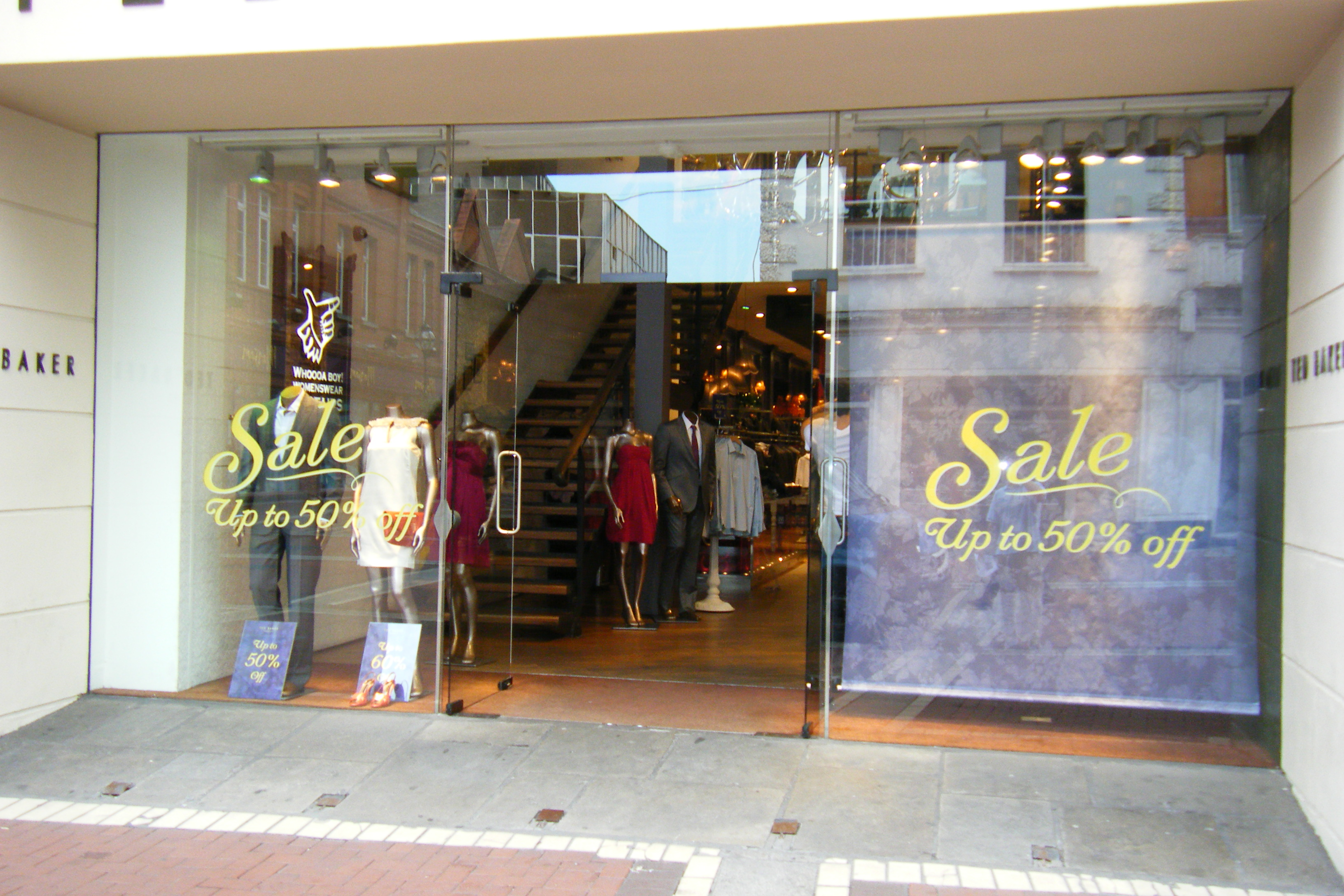 Sale Signs Promotional Window