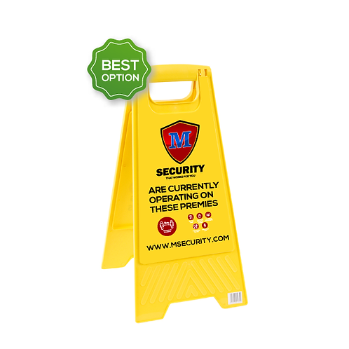 Security Company Budget A Style Sign Board