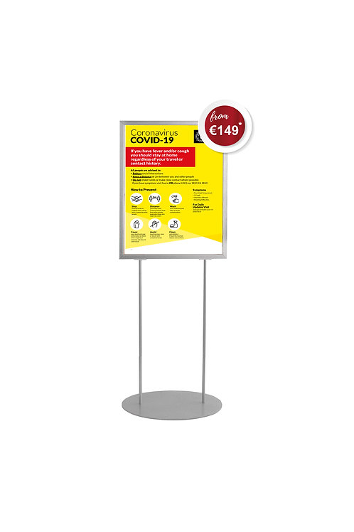 Covid-19 A1 Free Standing Indoor Poster Unit Signage Stand