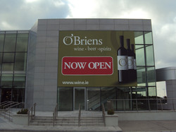 O'Briens Now Opening Window Graphics
